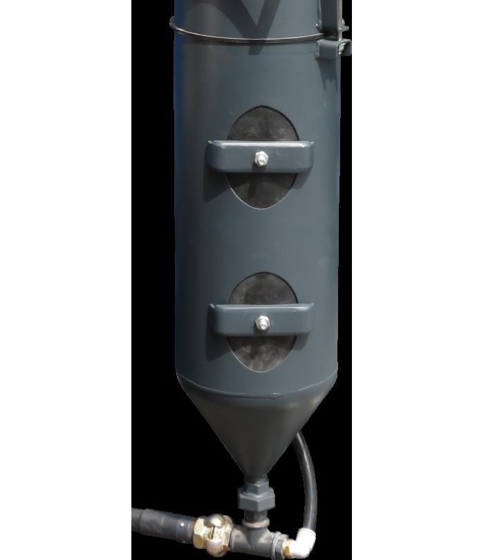 option double pot pour cabines de sablage à surpression ARENA